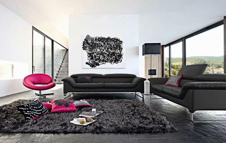 Comment décorer son salon avec un canapé noir ?